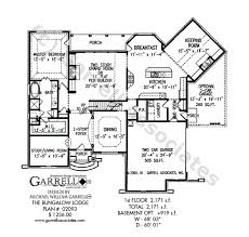 Bungalow Lodge House Plan   House Plans by Garrell Associates  Inc bungalow lodge house plan   st floor plan