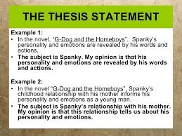 Writing thesis statements BODY OF THE PAPER     THE THESIS STATEMENT