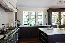 beautiful white kitchen cabinets:  enlarge white kitchen with dark cabinetry