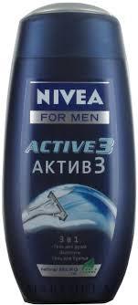 "Nivea For Men Active <b>3</b> Shower <b>Gel</b> - <b>Гель</b> для душа ""<b>Актив 3</b> в 1 ..."