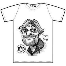 "<b>Black & White</b> - T-Shirt ""Jurgen Klopp"" (<b>Borussia</b> Dortmund ..."