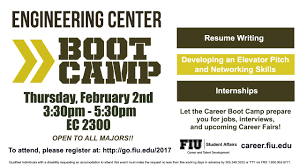 career fair fiu calendar the career boot camp is designed to prepare students and alumni in gearing up for the career fairs this event provides an opportunity to participate in