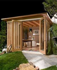 modern cabana the sheds from this san francisco company start at 1012 feet but they have full studios with kitchens and baths backyard shed office
