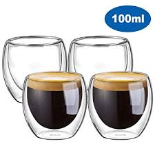 2pcs nespresso cups espresso italian stainless steel coffee nescafe double wall thermo capsule cup mug 2019