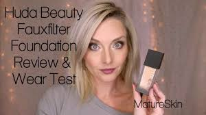 <b>Huda Beauty</b> #FauxFilter Foundation Review & Wear Test   Mature ...