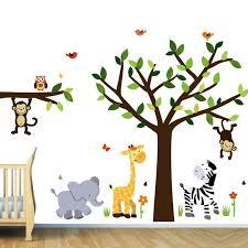image of pretty decor animal wall decals nursery room ideas kids room decor ideas nursery wall baby nursery decor furniture uk