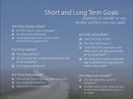 short term goals for school long term career goals essay