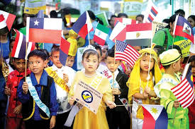 Image result for children waving flags