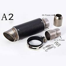 New Black Motorcycle Exhaust Pipe Muffler Inlet <b>51mm 61mm SC</b> ...