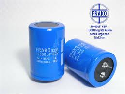 """Electrolytic <b>caps</b> x 2 pieces 63V FRAKO ECR """"LL"""" Ultra Audio Grade ..."""