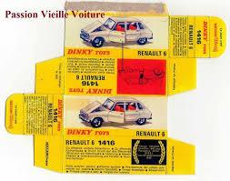 <b>DINKY TOYS 1416</b> : RENAULT 6 R6 boite repro / reprobox copie ...
