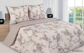 <b>Комплект постельного белья Ecotex</b> Изабель, семейный, поплин ...