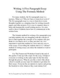 writing a five paragraph essay using the formula th   th grade  writing a five paragraph essay using the formula worksheet