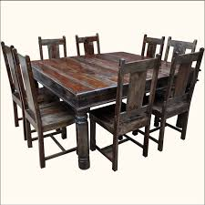 dining room tables chairs square: mission indian rosewood pc square dining table amp chair set