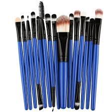 <b>15PCS Professional</b> Eye Shadow Eyebrow Lip <b>Makeup Brush</b> Tools ...