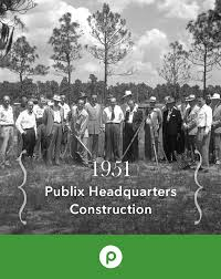 as publix expanded in 1951 a 125 000 square foot warehouse and as publix expanded in a square foot warehouse and headquarters complex was built in lakeland fl these buildings still stand today