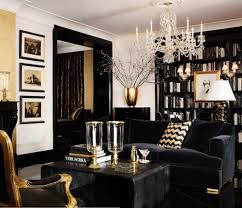 Beautiful dark sofa on dark floor
