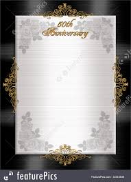 templates th anniversary formal invitation stock illustration formal invitation template black white for 50th wedding anniversary invitation or announcement black and white satin gold text roses and or ntal