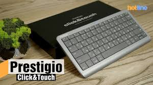 <b>Prestigio</b> Click&Touch — обзор <b>клавиатуры</b>-тачпада - YouTube