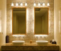 curved corner wall mount medium mirror bathroom mirrors and lighting ideas and bronze metal single faucet double wall mirror lamps fancy design ideas bathroom mirrors lighting