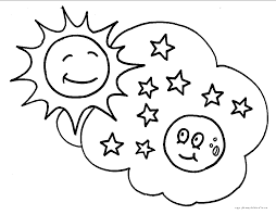 Small Picture Adult coloring page sun Sun And Moon Coloring Pages L3fum8n