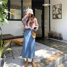Genayooa Loose <b>Skirt</b> Denim Elegant Quality <b>Skirt</b> For Women ...