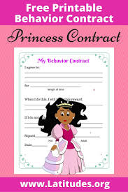 1000 images about behavior charts på gratis cute princess behavior contract for girls able contract for child behavior management