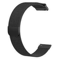 Buy Questionno 20mm Magnetic Loop Metal Wristband <b>Strap for</b> ...