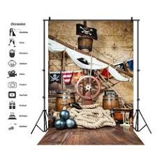 Pirate <b>Birthday</b> Backdrops For Photography Ship Deck World Map ...