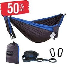 <b>Double</b> & Single Camping Hammocks - Lightweight Nylon <b>Portable</b> ...