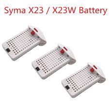 <b>3PCS 3.7V</b> 500mAh <b>Lithium Battery</b> for SYMA X23 X23W Aircraft ...