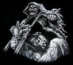 <b>skeleton riding motorcycle</b> tattoo - Google Search | Grim reaper ...