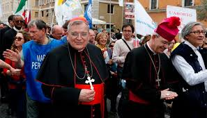 Image result for Photo of Bishop Schneider at March for Life Rome