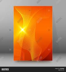 line curved cover page booklet orange background stock vector line curved cover page booklet orange background