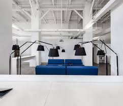 there blue white office space