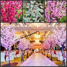 <b>Artificial Cherry</b> Spring Plum Peach Blossom Branch <b>Silk</b> Flower ...