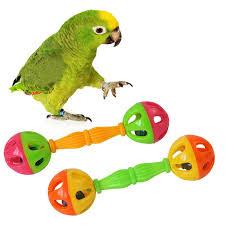 <b>2 Pcs Bird</b> Parrot Toy Rattle Birds Fun Exercise Plastic Double ...