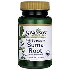 Swanson Full Spectrum <b>Suma Root</b> 400 <b>Milligrams</b> 60 Capsules