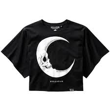 Killstar Dark Side Of The Moon Batwing <b>Crop Top</b> (<b>Black</b>) ($42) liked ...