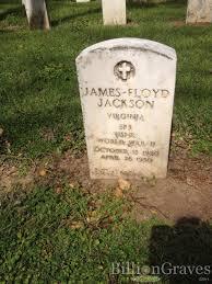 grave site of james floyd jackson 1920 1950 billiongraves headstone image of james floyd jackson