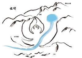 chinese feng shui master draws mountain map chinese feng shui dragon