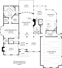 Westover   Bedrooms and Baths   The House DesignersFirst Floor Plan