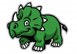 <b>Cute triceratops dinosaur</b> Vector | Premium Download