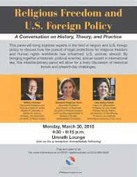 religious dom and u s foreign policy a conversation on flyer religious dom 20150330
