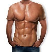 <b>Personality Fashion New</b> 3D Printing Abdominal Muscle <b>Summer</b> ...