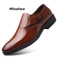 <b>Misalwa</b> Italian <b>Style</b> Men Shoes Formal Leather Big Size Business ...