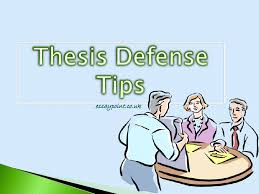 Defend your phd thesis