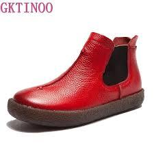 <b>2019 Women</b> England Style Brand <b>New Women Genuine</b> Leather ...