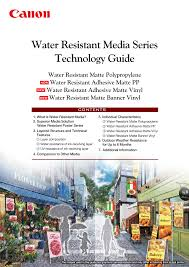 <b>Water Resistant</b> Media What is <b>Water Resistant</b> Media?