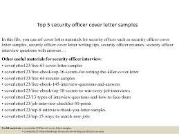 top  security officer cover letter samplestop  security officer cover letter samples in this file  you can ref cover letter